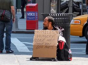 Hungry on the streets of New York City