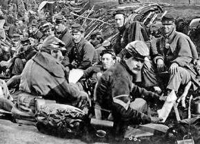 Union Army soldiers before the Battle of Fredericksburg