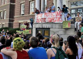 Students at Ohio University demand that the administration stop protecting a sexual predator