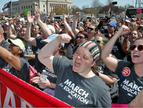 Oklahoma teachers on the march during the walkout days