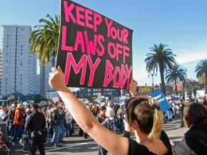 Pro-choice activists take a stand against the right