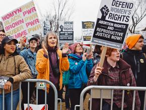 Rallying at the Women's March in Washington, D.C.