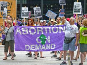 Protesters rally against Trump's attacks on abortion rights in Chicago