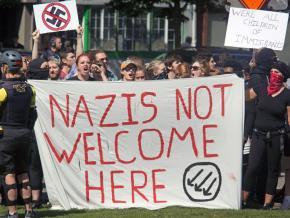 Protesting the fascist mobilizations in Portland, Oregon