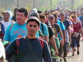The migrant caravan marches through Mexico