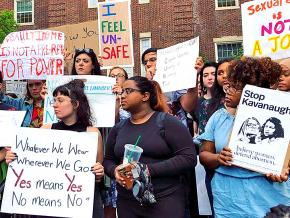Students at Brooklyn College rally against a sexist professor