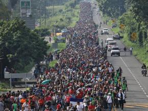 Thousands of migrants from Central America continue their journey north