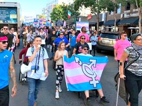 Protesters hit the streets of San Diego for trans liberation