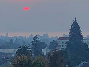 The Bay Area is enveloped in smoke from the catastrophic Camp Fire