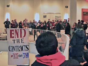 Students demand ICE out of Johns Hopkins University in Baltimore