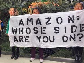 Seattle activists protest Amazon's collaboration with ICE