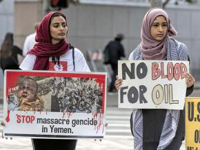 Protesters in San Francisco demand an end to the U.S.-backed war in Yemen