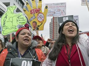 Teachers take the fight to the billionaire class in Los Angeles
