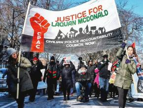 Marching for justice for Laquan McDonald in Chicago