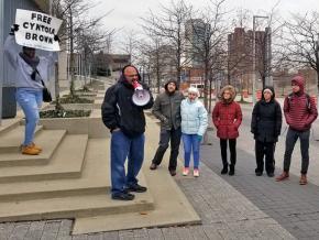 Anti-racist activists demand justice for Julius Tate and Masonique Saunders in Columbus, Ohio
