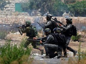 Israeli troops target Palestinian protesters on the outskirts of Ramallah