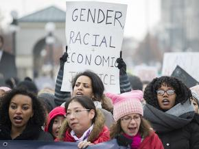 The Women's March hits the streets of St. Paul, Minnesota