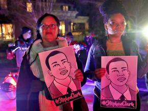 In the streets of Sacramento to demand justice for Stephon Clark